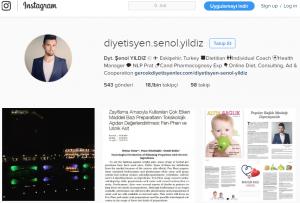 şenol yıldız instagram diyetisyen