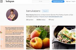 banu kazanç instagram diyetisyen