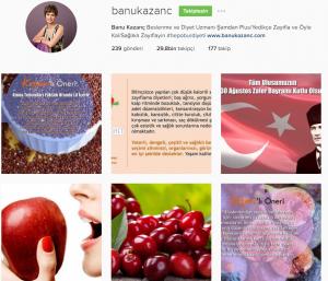 instagram diyetisyen banu kazanç