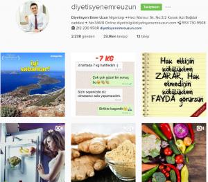instagram diyetisyen emre uzun