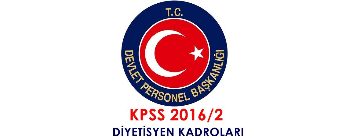 kpss 2016-2 diyetisyen