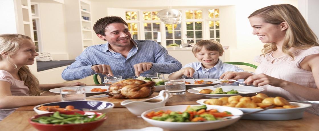 ailece akşam yemeği, yemek