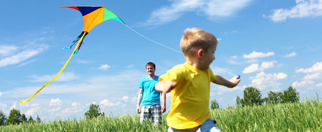 çocuk spor uçurtma aile baba