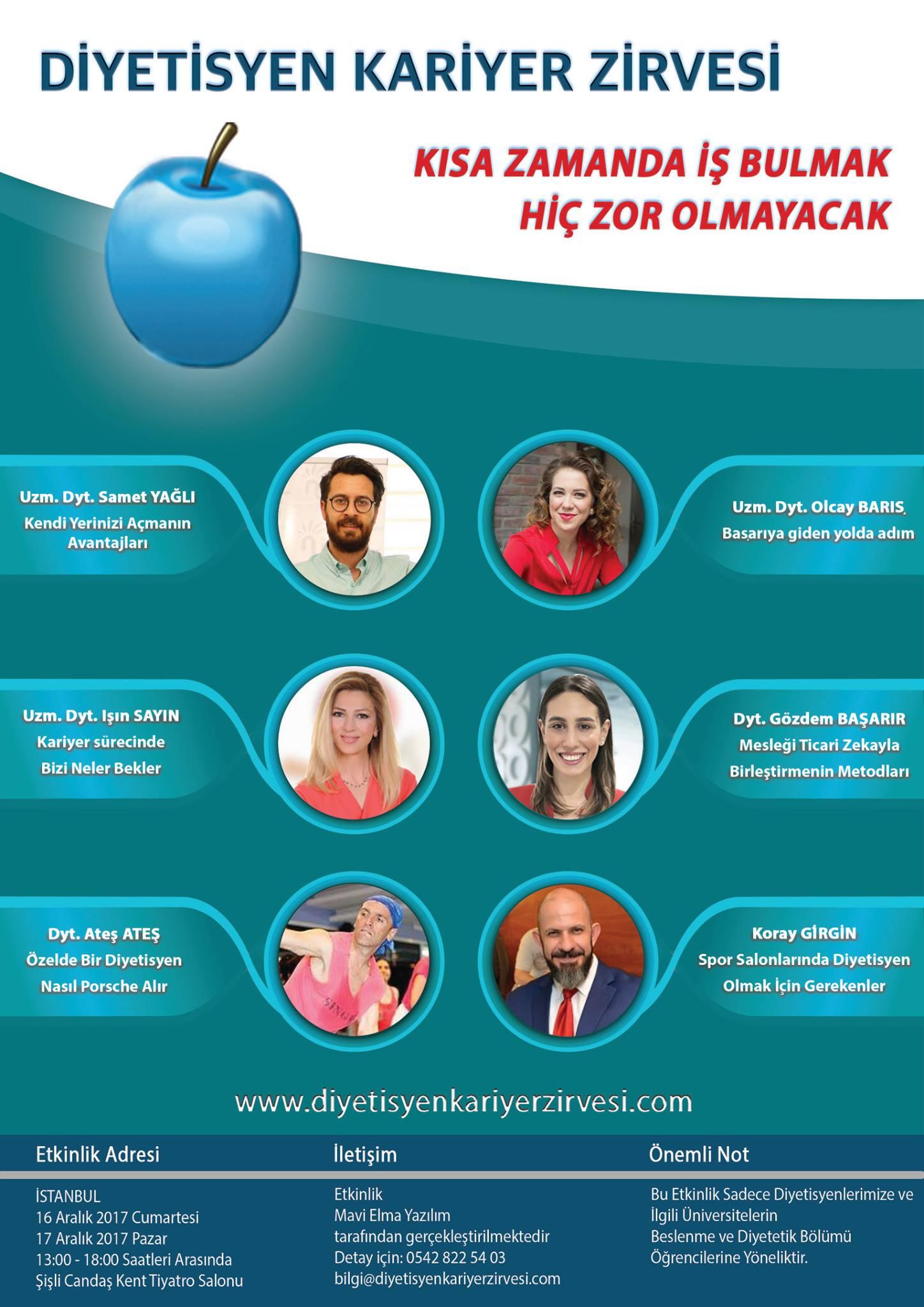 diyetisyen kariyer zirvesi 2017