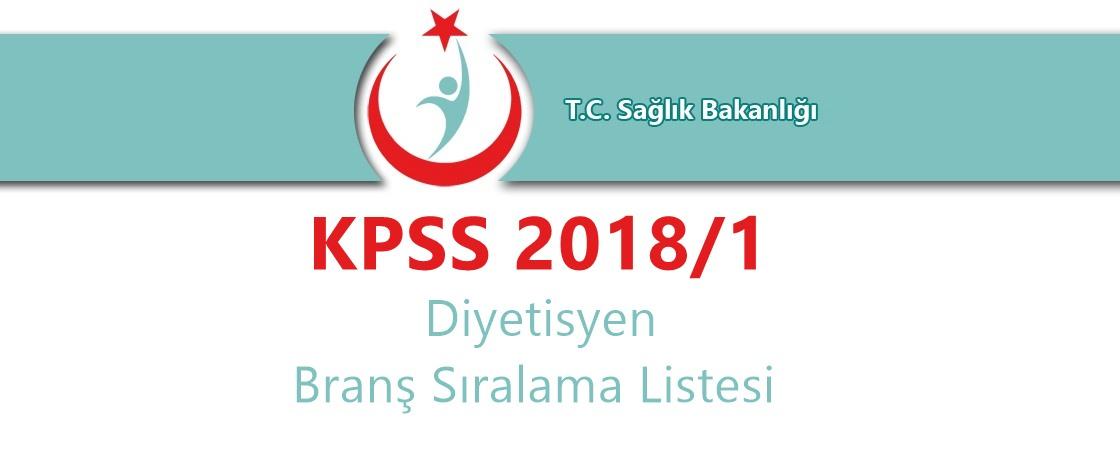 diyetisyen kpss sıralaması 2018