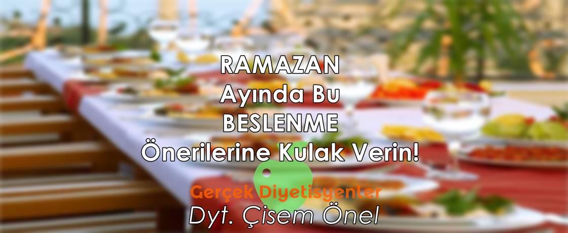 Çisem önel ramazanda beslenme diyet