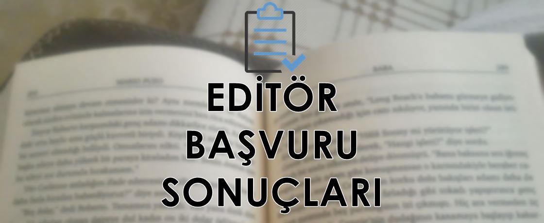 Editör sonuçları