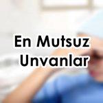 Sağlık personeli mutsuz unvanlar