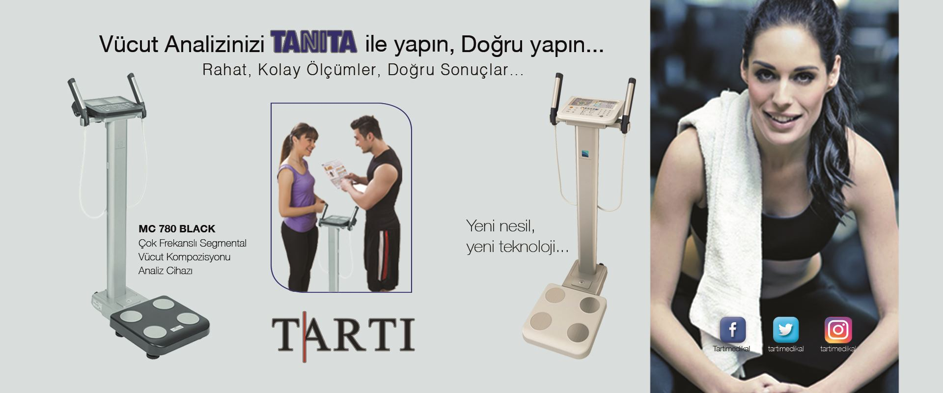 TARTI Mc780 Vücut analiz cihazı